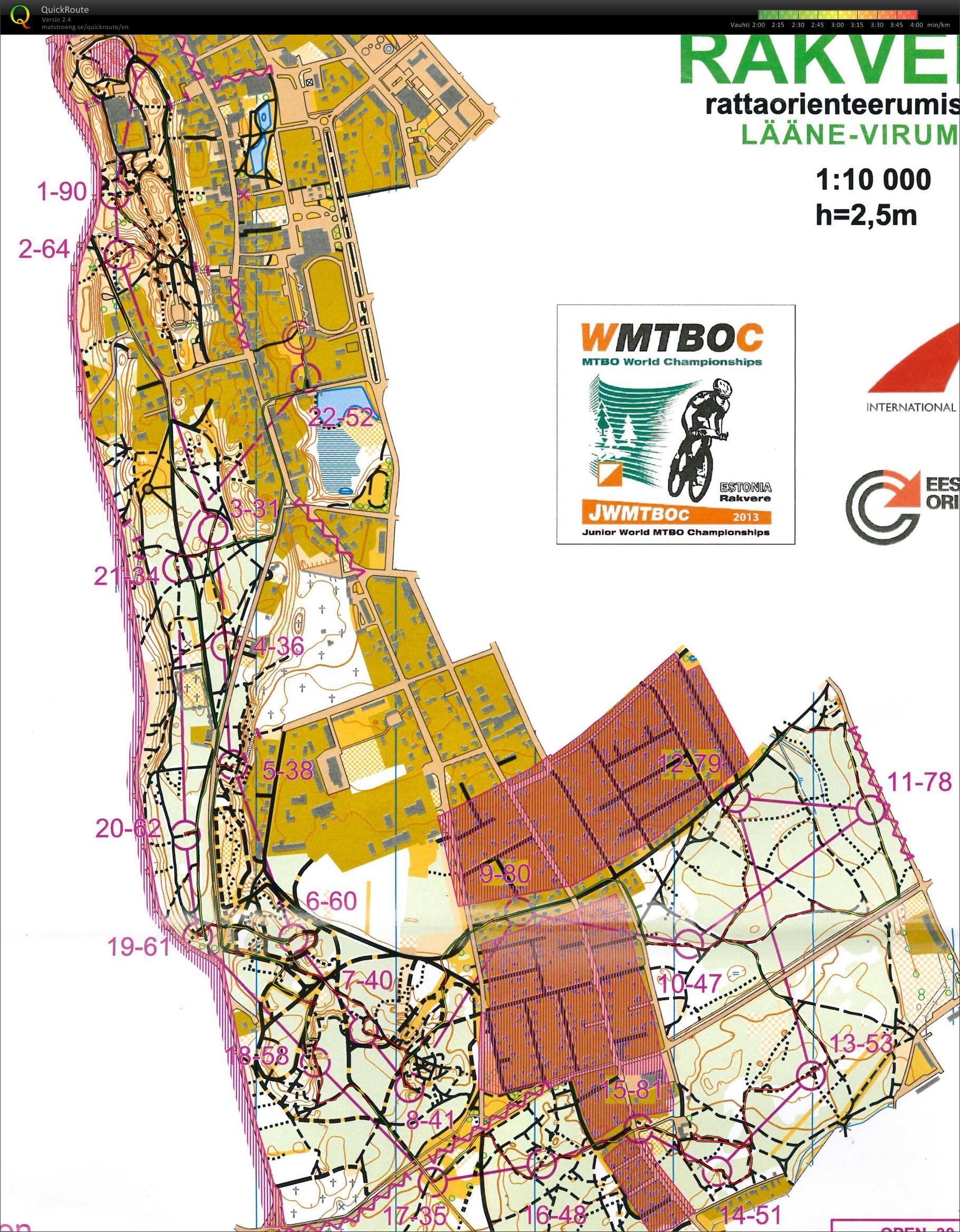 Digitaalinen Kartta Arkisto Mtbo Mm Yleisokisa Sprintti 30 08