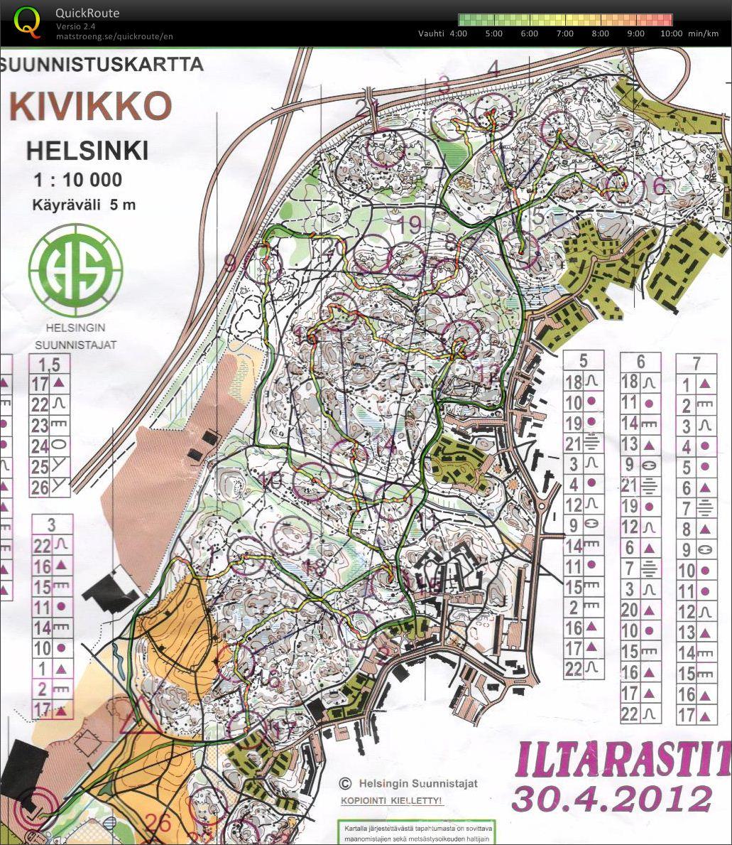 Markus Turusen Digitaalinen Kartta Arkisto Iltarastit 30 04 2012